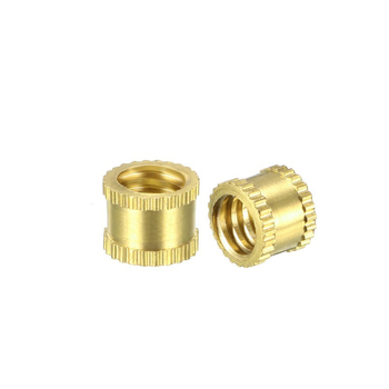 nonstandard oem brass knurled nut thread inserts made in China