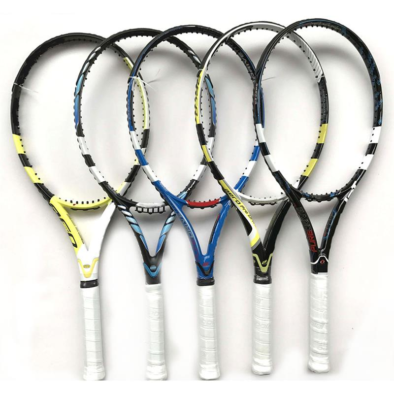 Aanpassen gedrukt 27 inch branded racket ZES EEN Full Carbon Graphite Fiber tennisracket/paddle/rackets Grip 2 #/3 #/4 #