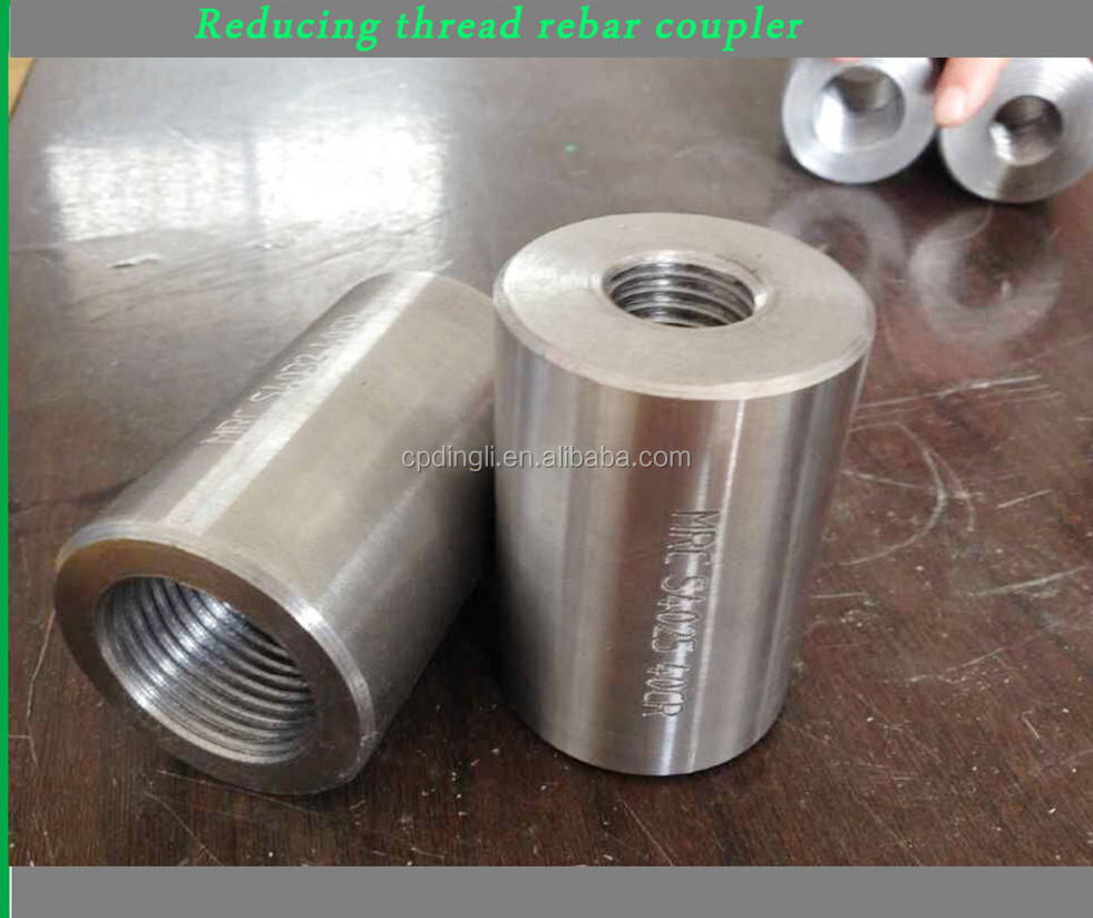 Building Material 45# Steel 12-40mm Rebar Splicing Coupler