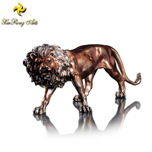 Brass home decor items animal statues bronze lion statues
