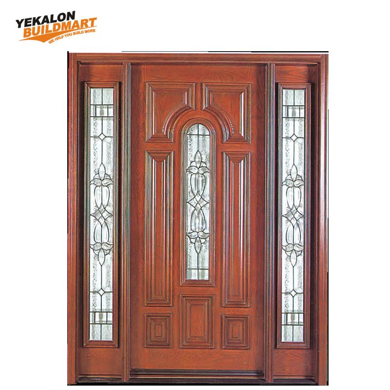 Solid Wood Gl Main Entrance Door Fancy Design
