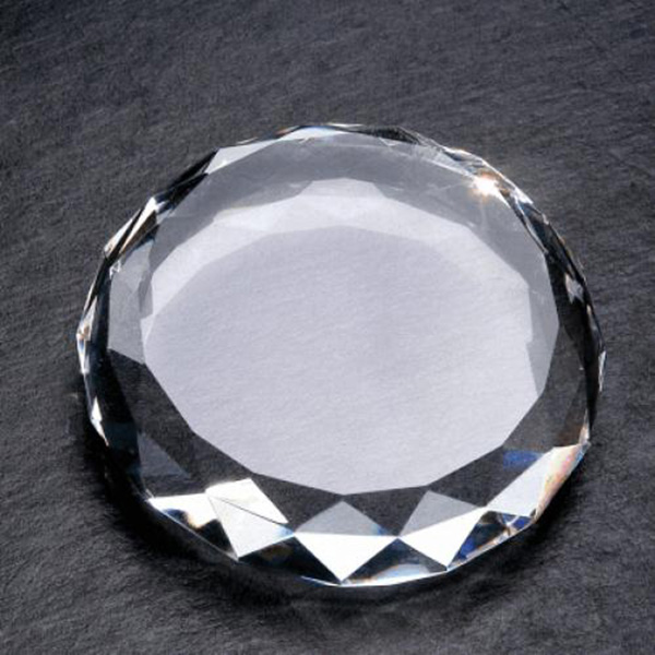 facet blank art glass cristal de quartzo paper weights for graduate gifts