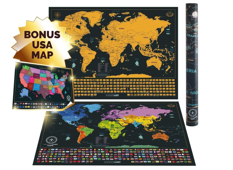 Buy American Scratch OFF MAP USA Travel Scratch Map United ...