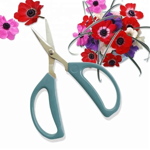 "6"" Stainless steel professional flower scissors with soft PVC handle for ikebana cutting shears tijera"