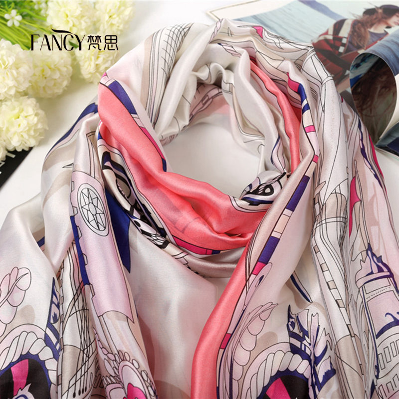 Fashion Silk Screen Printing Women's Stoles Scarves