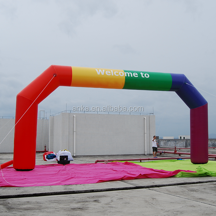High quality 9*5m 420D waterproof oxford cloth inflatable arch for free blower and shipping