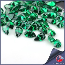 pear cut emerald cubic zirconia high quality stone dark green gemstones