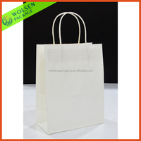 High quality white paper bag, transparent paper bag, white craft paper bag