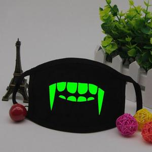 1pc Led Luminous Mouth Mask Light in the dark Anti dust keep warm Cool Unisex Mask Black Noctilucent Cotton Face Mask