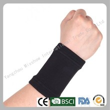 Knitted elastic weight lifting wrist support