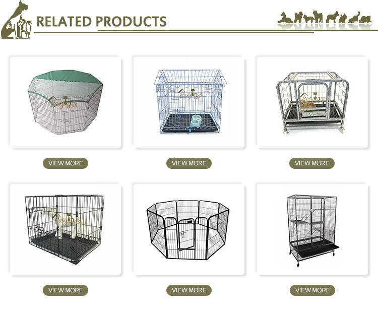Barato prefabricadas iglú conejo jaula de metal perro Casa Grande para mascotas