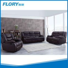 modern italy genuine leather recliner sofa set