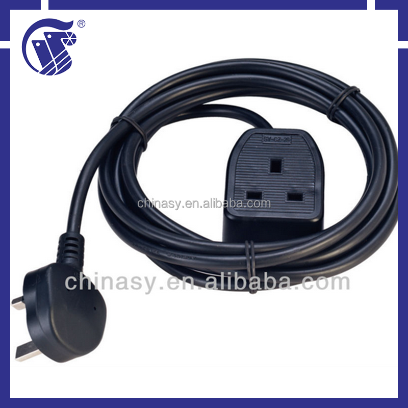 UK power cord/ plug with extenion lead(UK strip)
