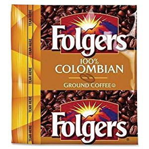 Wholesale CASE of 5 - Folgers 100% Colombian Pouch Coffee-Folgers Classic Roast, Colombian, 1.75 oz., 42BG/CT
