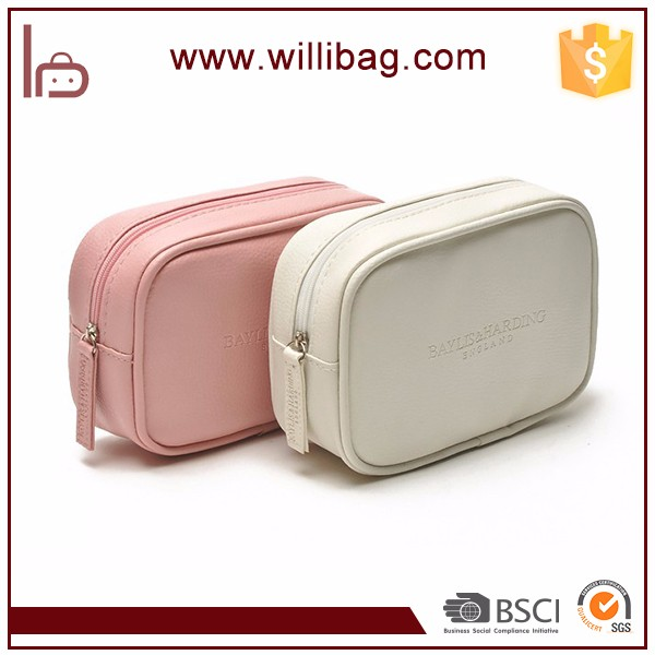 China Manufacturer Zipper Storage Bag Makeup Bag Leather Cosmetic Bag