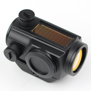 Solar power reflex sight red dot waterproof 1x20 military tactical red dot scope for real guns