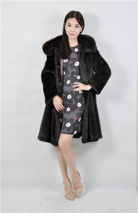 2015 winter woman fashion real mink fur real mink coat 8043 90M