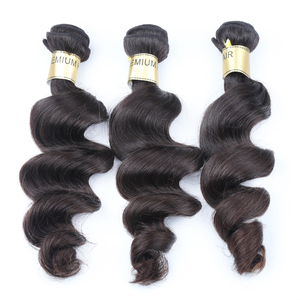 Wholesale price alibaba china cuticle aligned brazilian loose wave hair weave