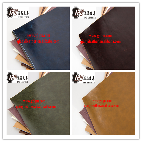 artificial fireproof oil wax leather microfiber leather for sofa/furniture