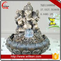 Water Fountain Home Decoration Handmade Resin Hindu Crafts