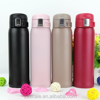 Creative gifts bounce cover vacuum cup fashionable stainless steel thermos flasks