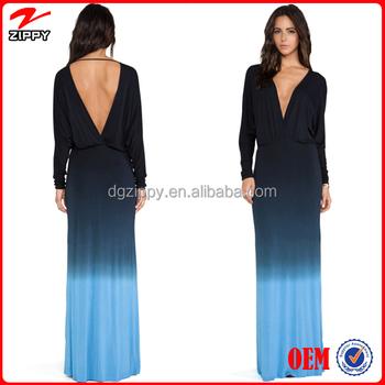 Women Gowns Black Blue New Dye Evening Dress Gowns China Online ...