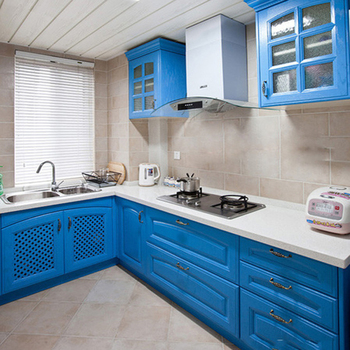 Modern Designs High Gloss Lacquer Blue Kitchen Cabinet For ...
