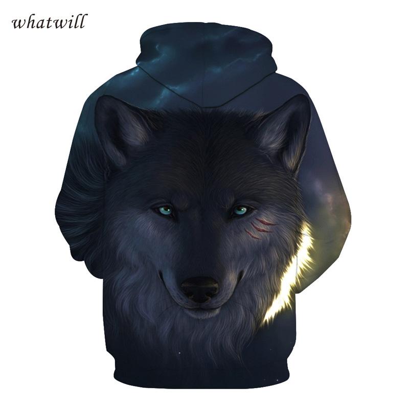 3d wolf hoodies & sweatshirts hip hop hoodies hoody casual sweatshirt printed sweat homme pullovers sudadera hombre