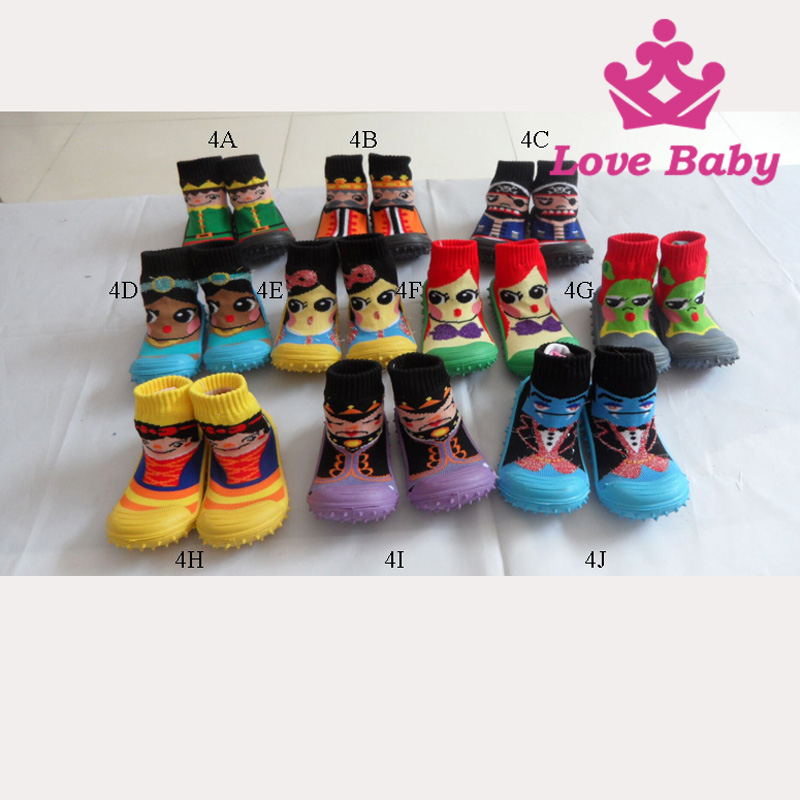Hottest kids skidders children sock shoes rubber soles sport shoes
