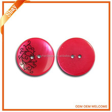 New fashion two holes plastic resin cover button