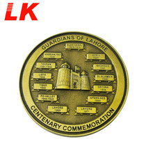 High Quality Antique Gold Plated 3D Copy Coin For Sale