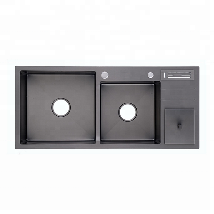 first-class stainless steel nanometer kitchen sink double sink stainless sink