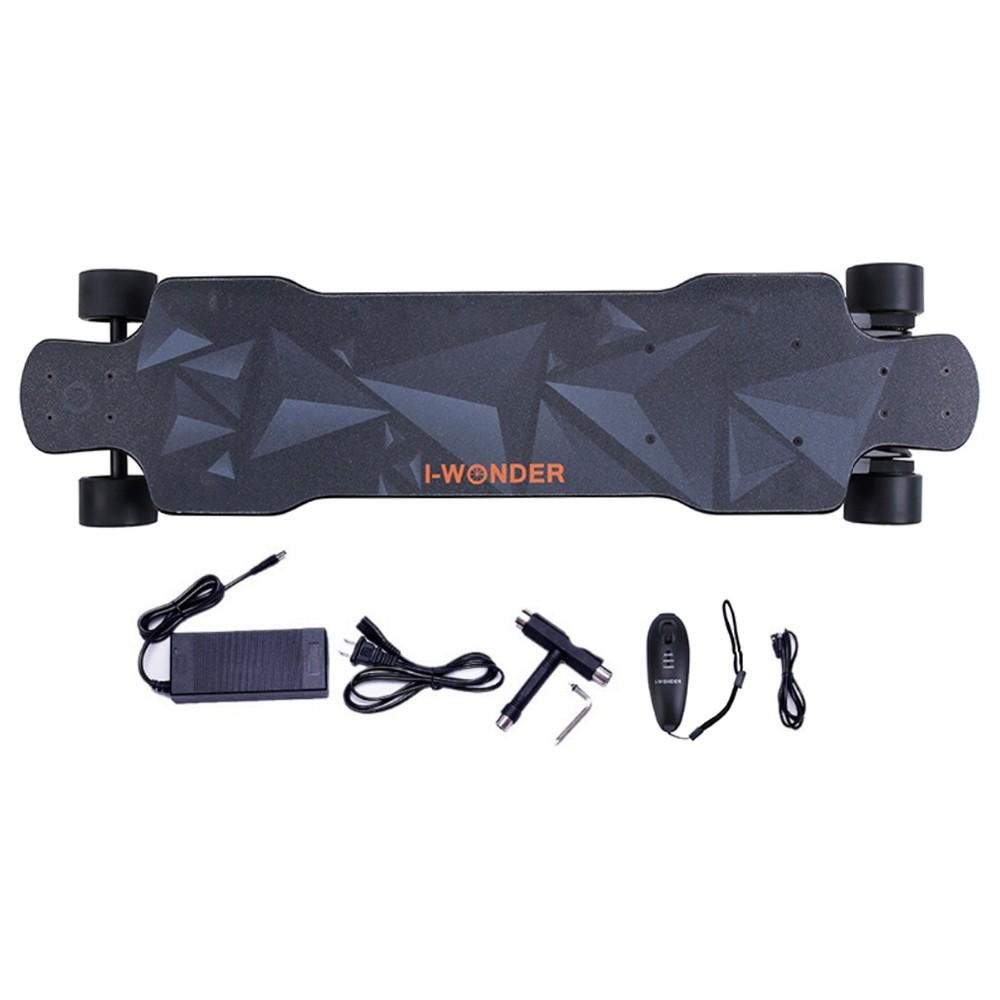 SK-F I-Wonder electric skateboard flexible deck dual motors 1200W*2 belt driven longboard boosted skateboard