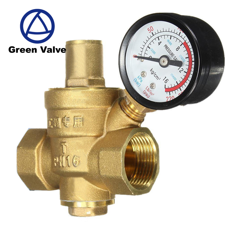 Green-GutenTop forged brass Water Pressure Regulator/limited relief Water Pressure Reducing Valve
