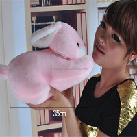 high quality rabbit fur cat toy custom plush toys