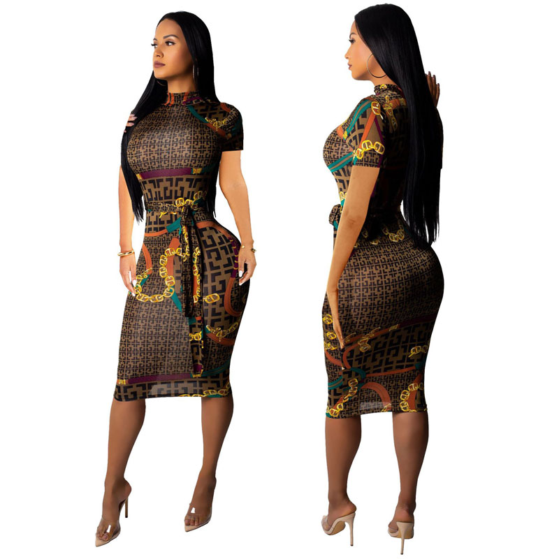 Alibaba.com / AfrIcan ClothIng Pencil Ethnic Style Print Fashion dresses for women 90325-MX6