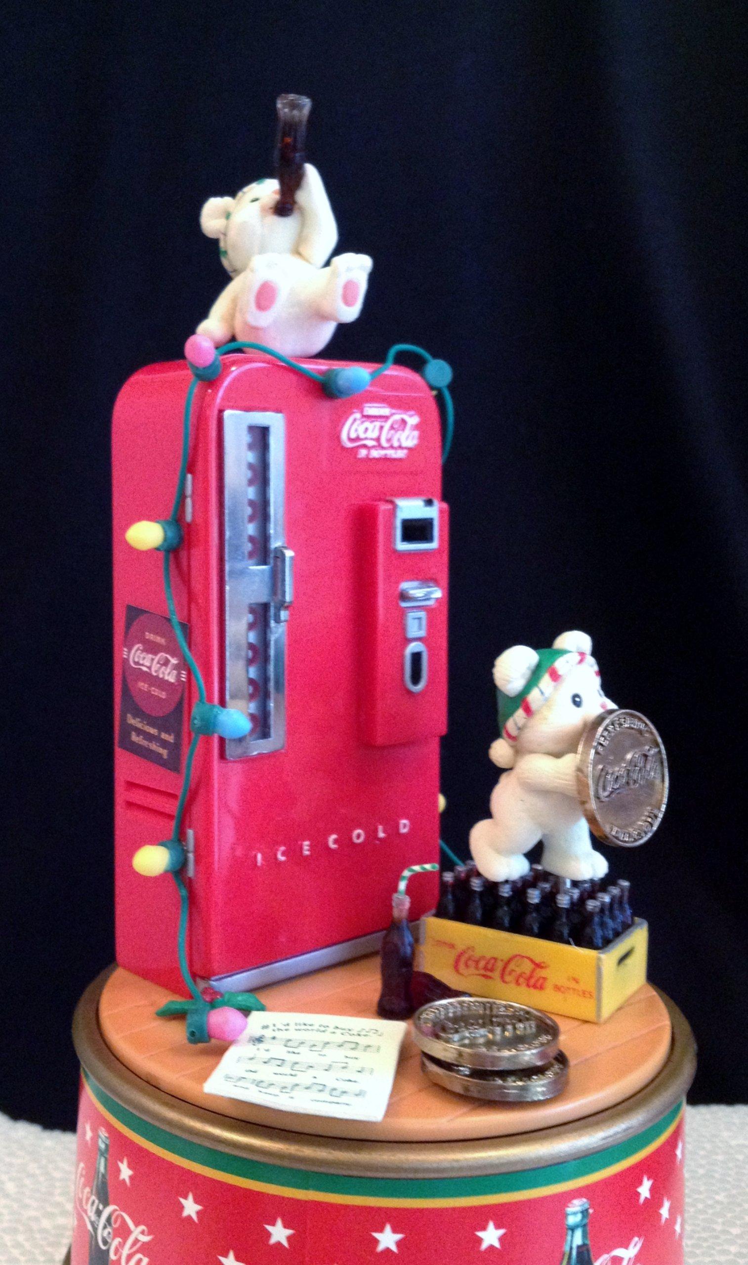 A Refreshing Pause Coke Mini Action Musical Box