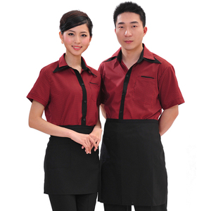 High Quality New Fashion Restaurant Uniforms For Waiters Waitress