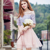 2017 summer new special design lace elegant girl one-shoulder dress