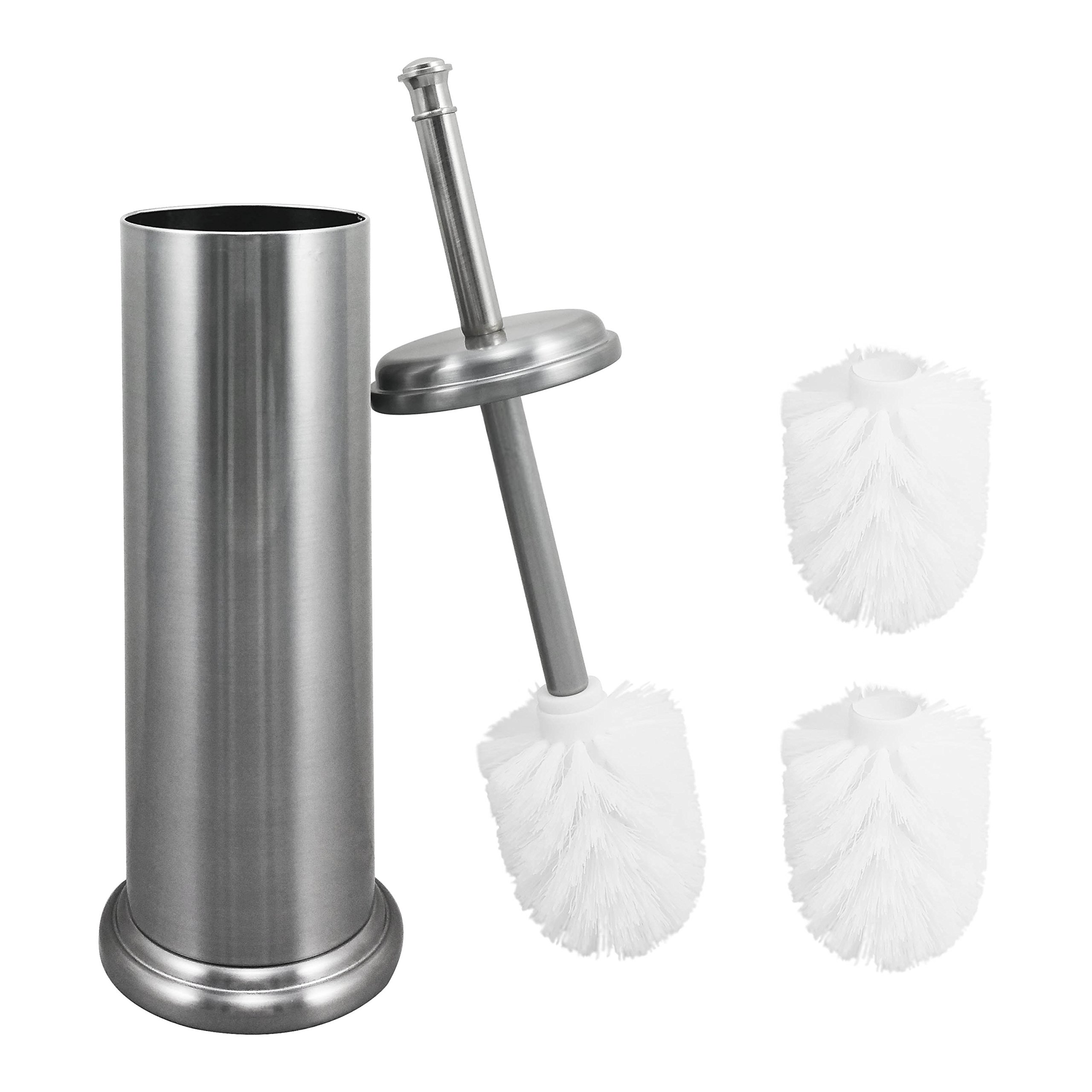 Get Quotations Elegant Toilet Brush And Canister By Maya Now With A Metal Handle 2 Replacement