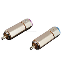 OEM Hi End H1168 RCA plug Coaxial Integration banana Plug Gold Plated Free Welding Connector