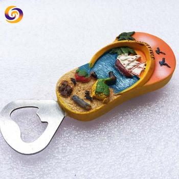 Mauritius Slipper Ad Souvenir Resin Dodo Bird Magnetic Bottle Opener