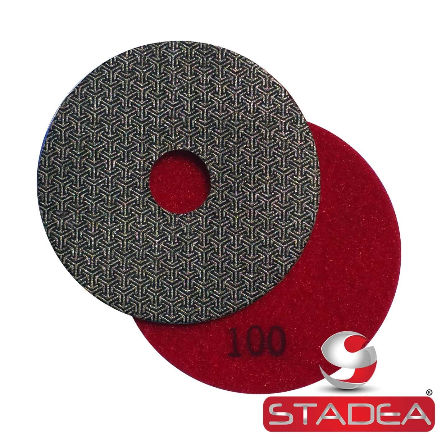 """Stadea PPE114A Electroplated Diamond Polishing Pads 4"""" Glass Concrete Marble Granite Wet Dry Sandpaper Tool for Sanding Polishing Surfaces"""