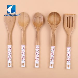 Cathylin popular cooking utensil wooden soup ladle kitchen tool sets