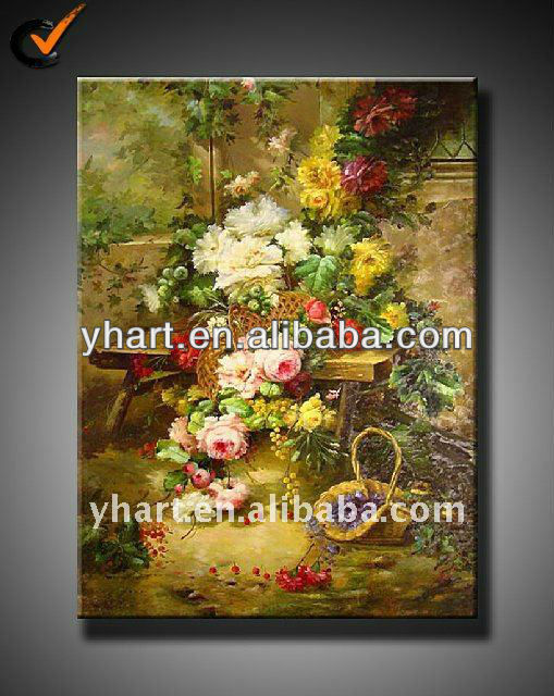 Impressionist modern canvas art flower painting on canvas