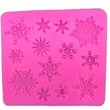 Free shipping font b Christmas b font font b snowflake b font silicone mold chocolate fondant