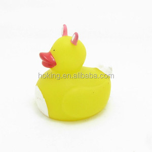 Hot selling squeaky rabbit shape easter rubber ducks
