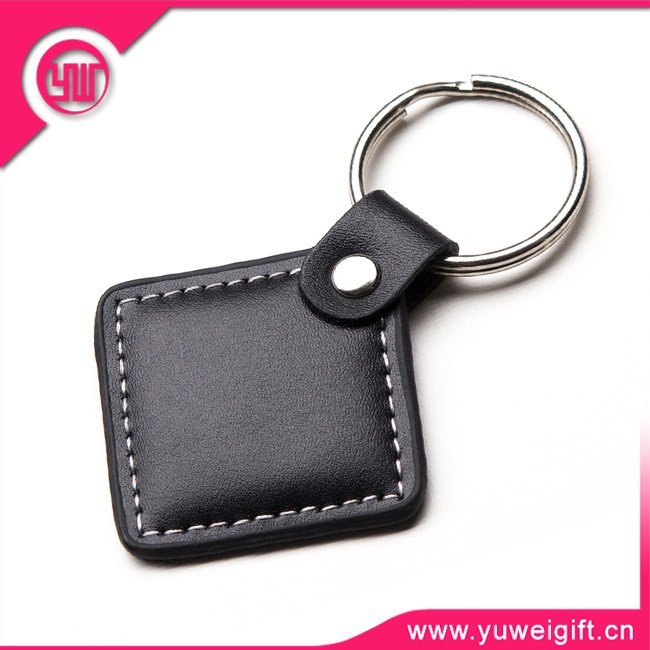 high quality car keychain PU leather metal genuine leather keychains wholesales