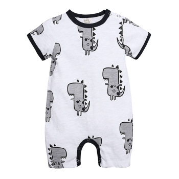 European Summer 2019 toddlers baby cartoon romper dinosaur prints short romper
