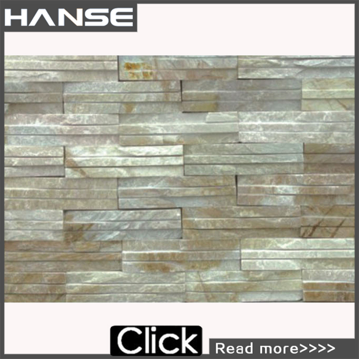 HS-W06 Cheap interior wall decorative white slate stone tile for building